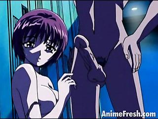 auburn haired anime girl