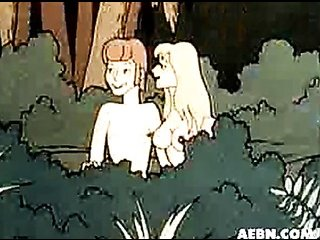 animated couple the woods