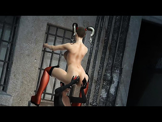 horny catwoman licking naked